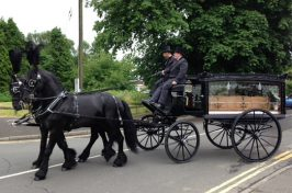 Funeral procession with horse and cart
