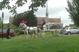 horse drawn cart funeral procession