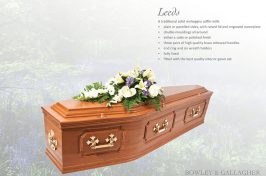 Leeds mahogany wooden coffin