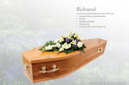 Richmond elm wooden coffin