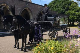 horse drawn carriage for funeral service